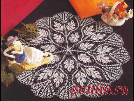 Tığ işi Dantel Örgü yapımı, Yuvarlak oda takımı modeli & Crochet Part 1