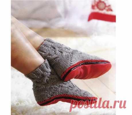 Носочки-тапочки (Вязание спицами) — Журнал Вдохновение Рукодельницы