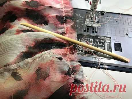 Лайфхак: как использовать апельсиновую палочку во время шитья — Мастер-классы на BurdaStyle.ru
