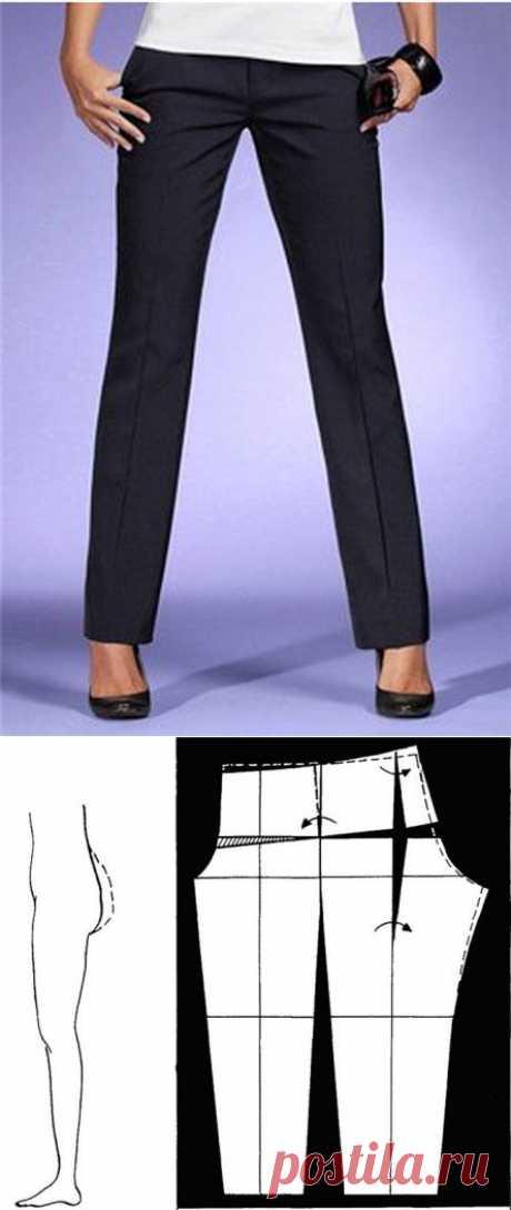 Конструктивные дефекты в брюках..