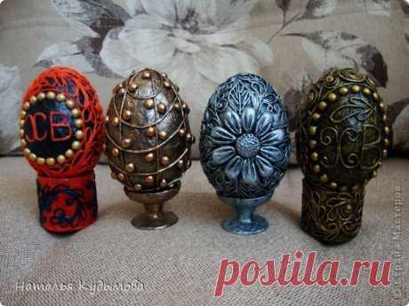 Пасхальные яйца в технике пейп-арт.   Страна Мастеров