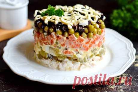 Советский салат Прага - рецепт с фото
