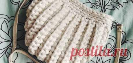 Сумка-ракушка из трикотажной пряжи | Knitting-Room