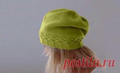 Просто связать стильную шапку-чулoк (описание) | Идеи рукоделия | Яндекс Дзен