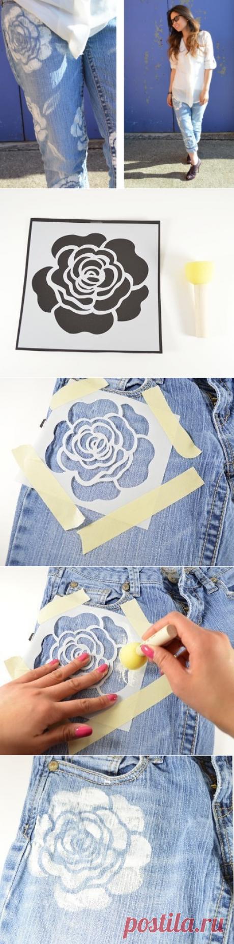 Роспись джинсовой одежды.