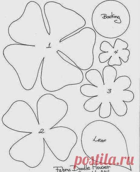 Moldes y diseños de flores en fieltro - Paperblog