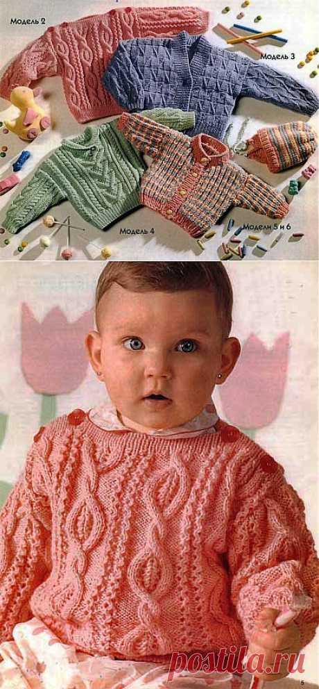 Свитерки и кофточки для малышей. Вязание спицами   Умелые ручки