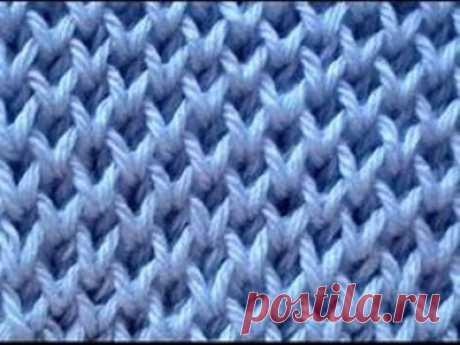 """Вязание - модели и схемы: Узор """"Сетка"""""""