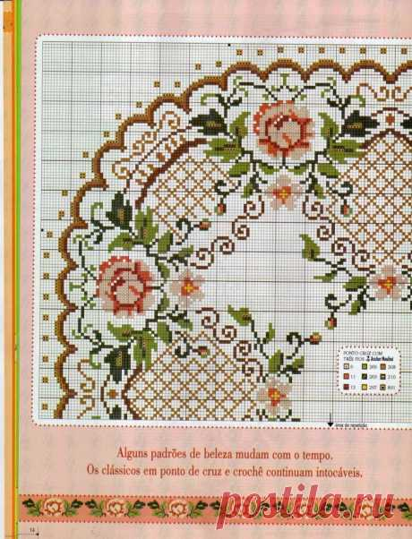 schemes of an embroidery of napkins cross: 13 thousand images are found in Yandex. Pictures