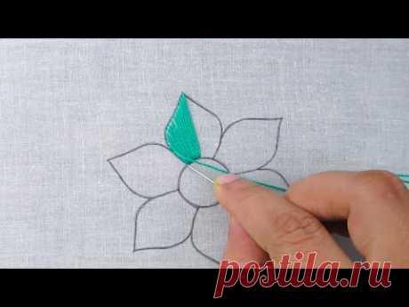 Hand Embroidery Amazing Fancy Flower Stitch, Super Unique Elegant Flower Design, Flower Embroidery