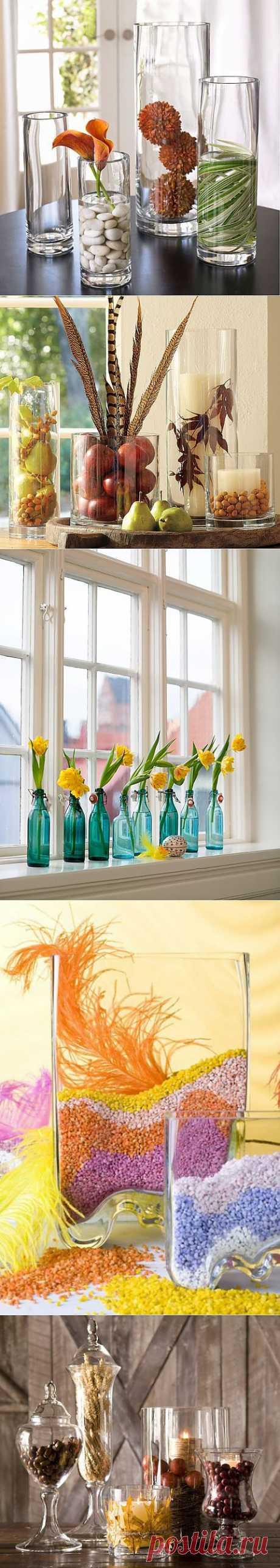 Идеи оригинальных композиций в вазах из стекла | Интерьер и Дизайн
