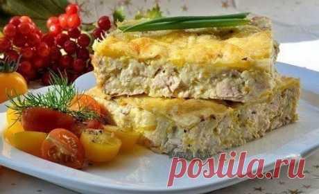 Легкий куриный пирог-запеканка — Мегаздоров