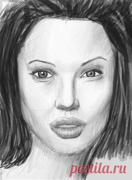 Учимся рисовать лицо — Сделай сам, идеи для творчества - DIY Ideas