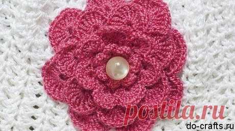 МНОГОЯРУСНЫЙ ЦВЕТОЧЕК КРЮЧКОМ – МК (Вязаные цветы) – Журнал Вдохновение Рукодельницы