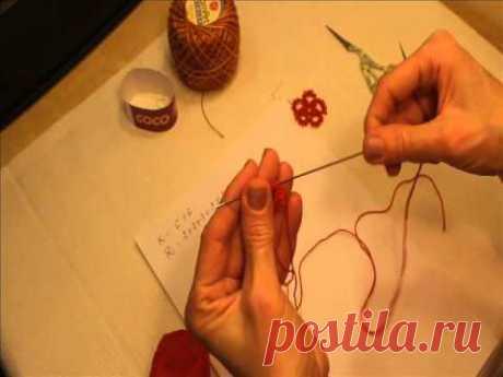 Фриволите иглой для начинающих. Рукоделие. Фриволите иглой для начинающих. Серьги. Урок №1.