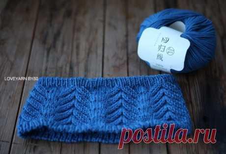 Зимняя повязка на голову схема. Схема вязания теплой повязки на голову | Вязание для всей семьи