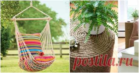 Веревка в интерьере: стильные идеи и практичные вещи ...