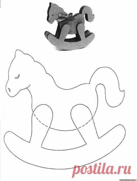 выкройка лошадка-качалка