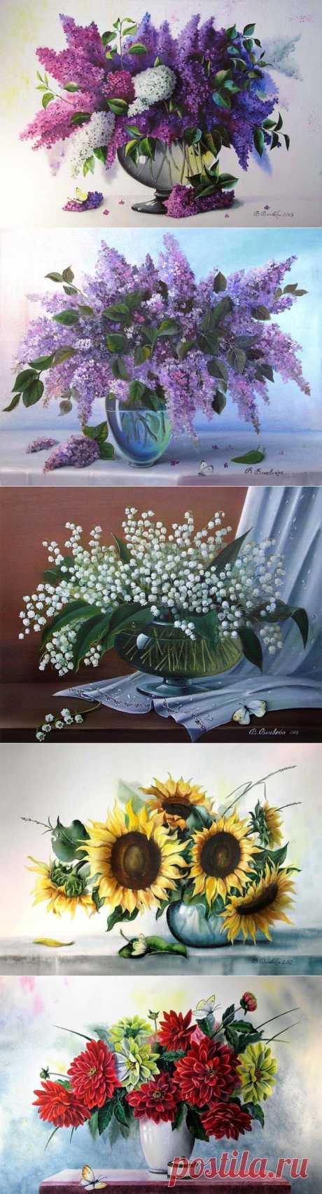 (+1) тема - Великолепные букеты цветов от украинской художницы Валентины Валевской | Искусство