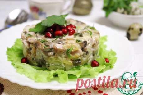 """Салат """"Премиум"""" с курицей и ананасом – кулинарный рецепт"""
