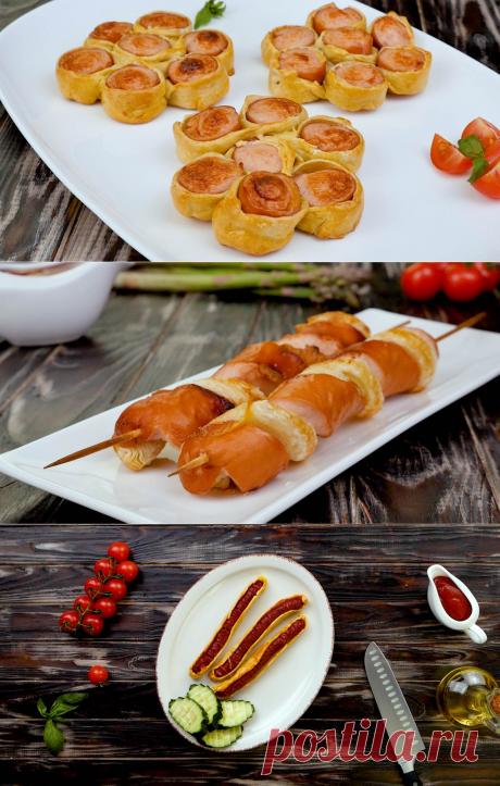 Домашние сосиски в тесте: 4 варианта