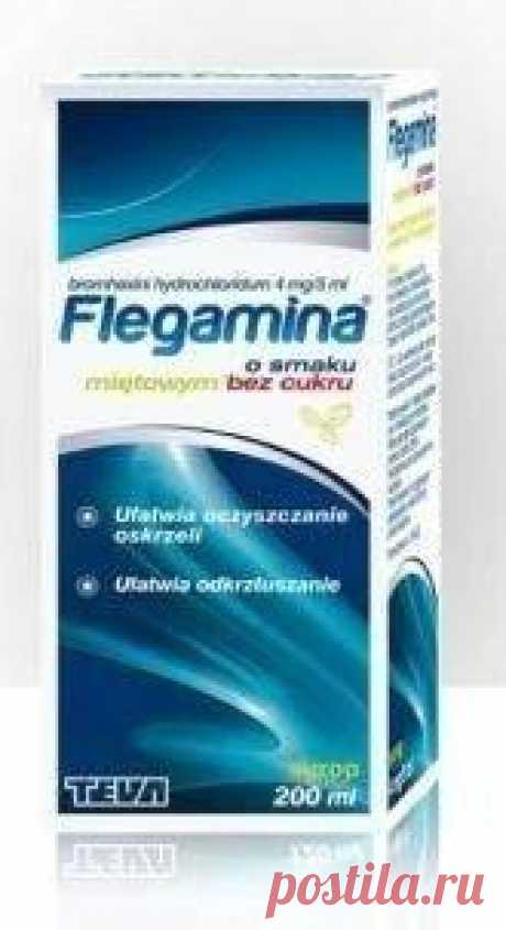 FLEGAMINA mint without sugar syrup 200ml respiratory infections FLEGAMINA UK respiratory infections is a syrup based on bromohexine hydrochloride. This substance has expectorant effect.