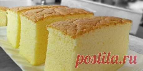 Легкий, нежный бисквит, словно шифон - Простые рецепты Овкусе.ру
