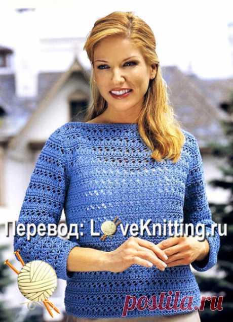 Пуловер ажурным узором Пуловер ажурным узором . Вязание, вязание и только вязание, а также всё, что с ним связано! Всё что вам нужно, вы найдете у нас: детское вязание, вязание для взрослых, а так же идеи вязания, работы для вдохновения и многое другое svjazat.ru