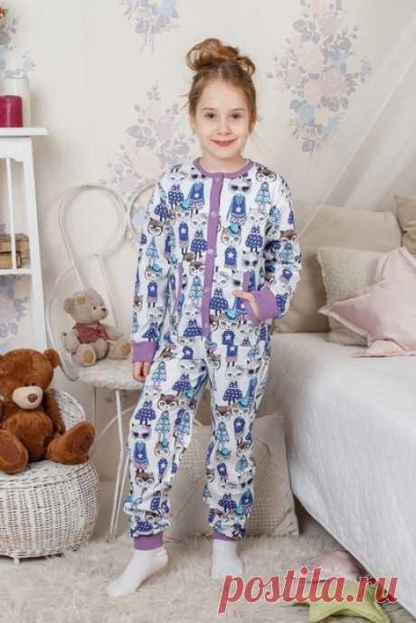 Комбинезон-пижама для детей Размеры 104-128  Пижама-комбинезон это - идеальное решение для осеннего и зимнего сезонов. Хлопковый трикотаж сохраняет тепло, позволяет ребенку ощущать себя максимально комфортно во время сна. Родители могут быть уверенными в том, что ребенок не замерзнет, даже если ночью откинет одеяло.