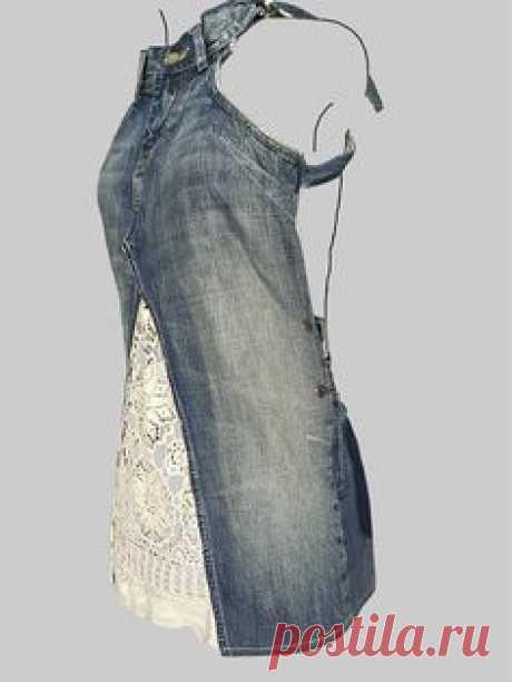 jeans dress 'dokjurk' loose fit A-line shape