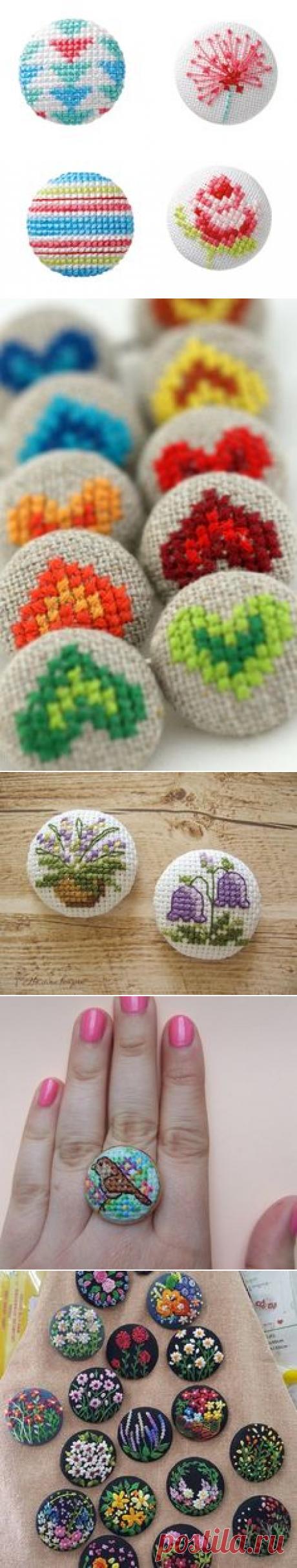 Los botones (elección) bordados