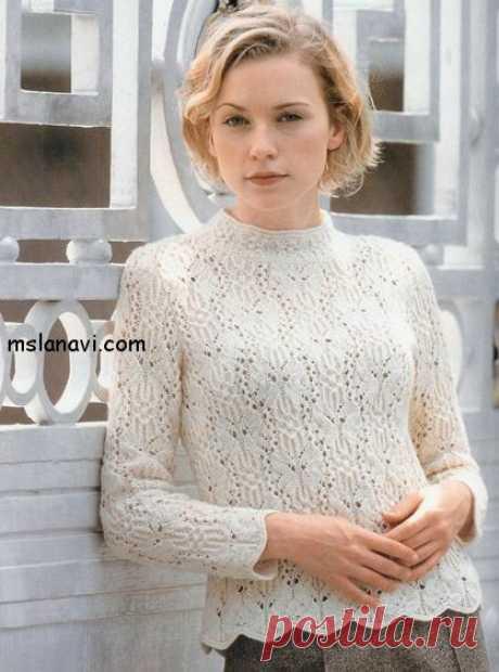 Кремовый ажурный пуловер  - Вяжем с Лана Ви Девочки,вашему вниманиюеще один ажурный пуловер с похожими бабочками. Ранее я публиковала вязаные ажурные свитерас узорами напоминающими бабочек, во всяком случае для меня :).Первый — белый ажурный пуловер можно посмотретьздесь, а второй — в этой статье. Надеюсь, что вам понравятся представленные ажурные свитера и вы свяжите себе к весне красивую обновку. Модель ажурного свитера связана из […]