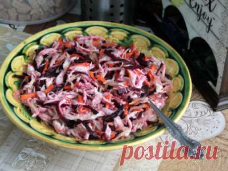 Салат с курицей и жареной свеклой (бурятская кухня) — рецепт с фото пошагово