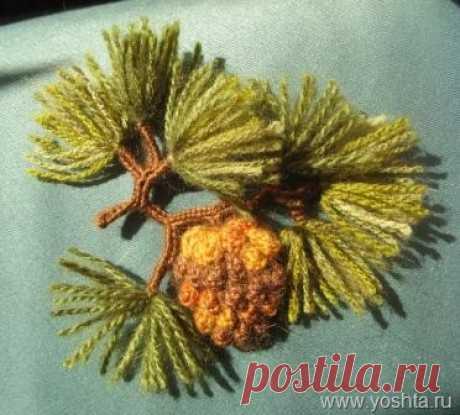 >Имитация шишек вязанием. Вязаные еловые, сосновые, кедровые шишки.