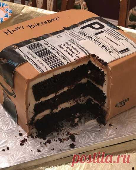 Торт в виде посылки