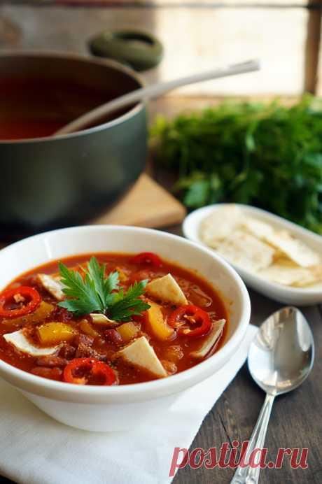Быстрый мексиканский суп с чипсами - Andy Chef - блог о еде и путешествиях, пошаговые рецепты, интернет-магазин для кондитеров