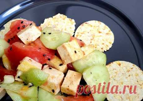 Летний салат с тофу 😋 - пошаговый рецепт с фото. Автор рецепта Yulia Nikolaeva . - Cookpad