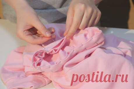 Как обработать горловину на трикотаже. Мастер-класс по шитью. | yana.levashova.designer | Яндекс Дзен