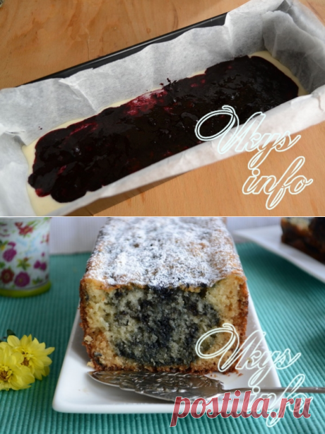 Mannik on kefir with jam – the recipe with a photo