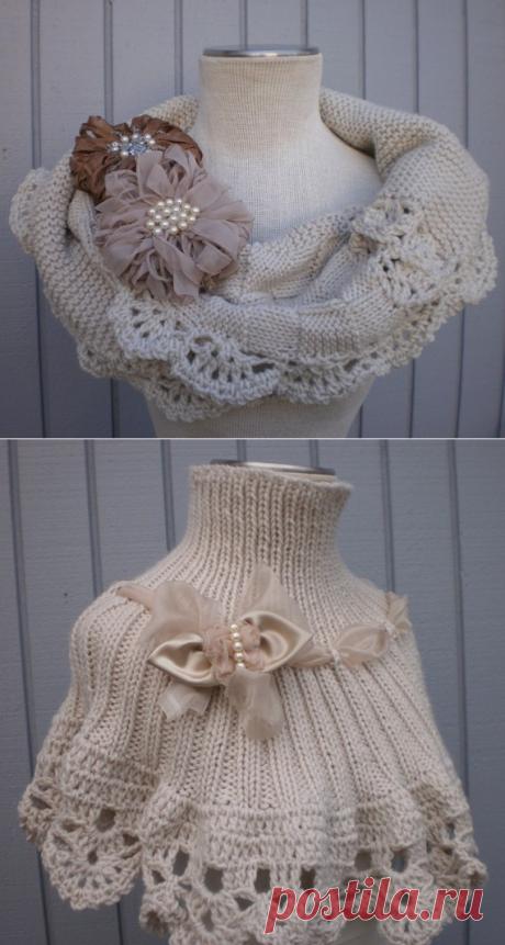 Оригинальный шарф-снуд