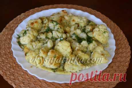 Цветная капуста с яйцом - рецепт с фото