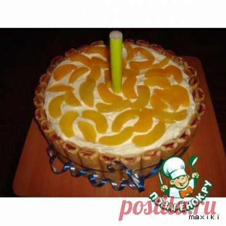 Торт тирамису эконом-классас персиками