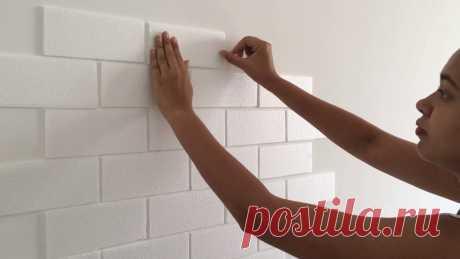 Необычная и простая техника оформления стены за копейки . Милая Я
