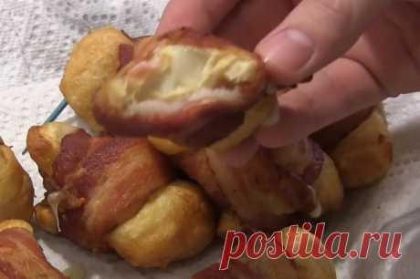 Идеальная закуска из теста, сыра и бекона. Вкус, перед гармонией которого не устоит никто…