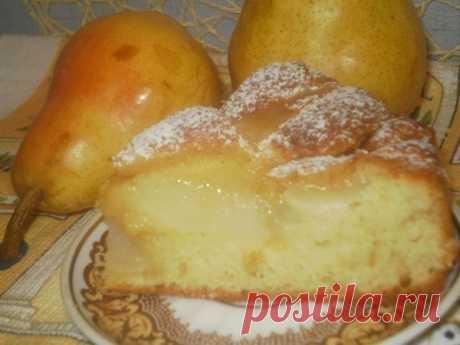 """Пирог с грушами на дрожжевом """"пушистом"""" тесте - это кусочек рая!"""