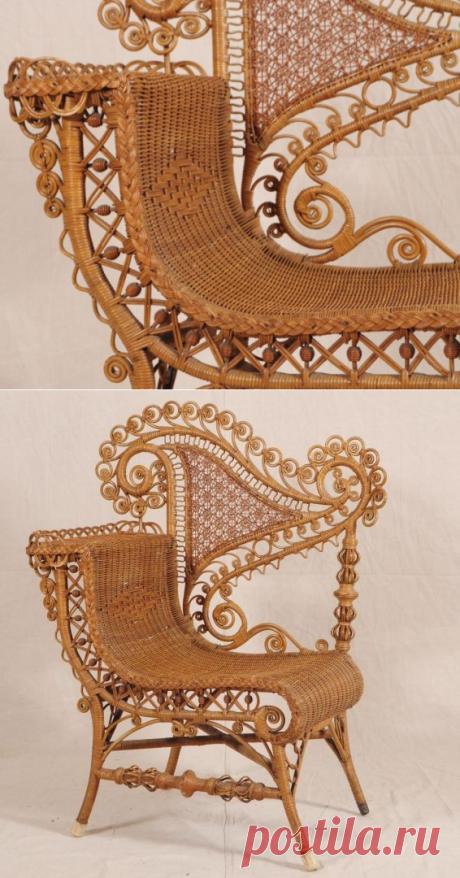 Victorian Wicker Chair : Lot 537