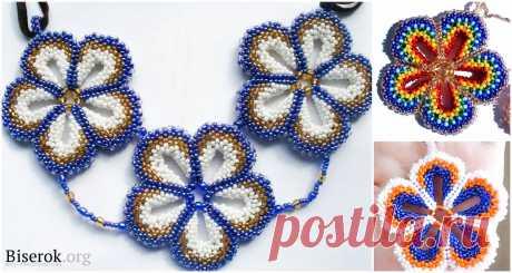 Подвески в технике мозаика / Как сплести красивый цветок в мозаичной технике плетения