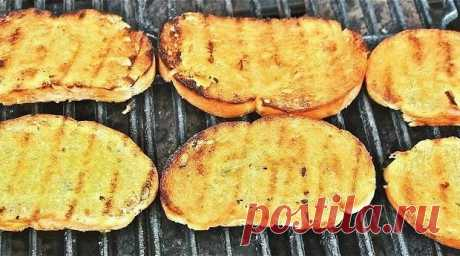 Домашний чесночный хлеб на гриле рецепт – европейская кухня: закуски. «Еда»