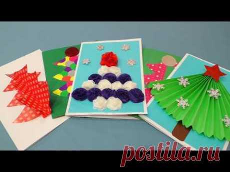 5 крутых открыток на новый год своими руками. Как сделать новогоднюю 3Д открытку.