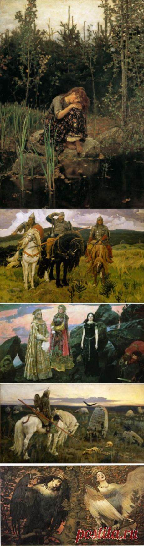 Виктор Михайлович Васнецова: самые известные картины с названиями, смотреть творчество и фото работ знаменитого художника иллюстратора